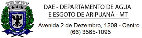 DAE - Departamento de Água e Esgoto de Aripuanã